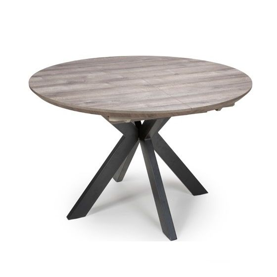 Manhattan Extending Round Dining Table 120 160cm The Manhattan Collection Of Dining Tables Has A Lot To Shout About Smartop Technology Heat Stain And Scratch Resistant Applied To The Wood Effect Tops Three