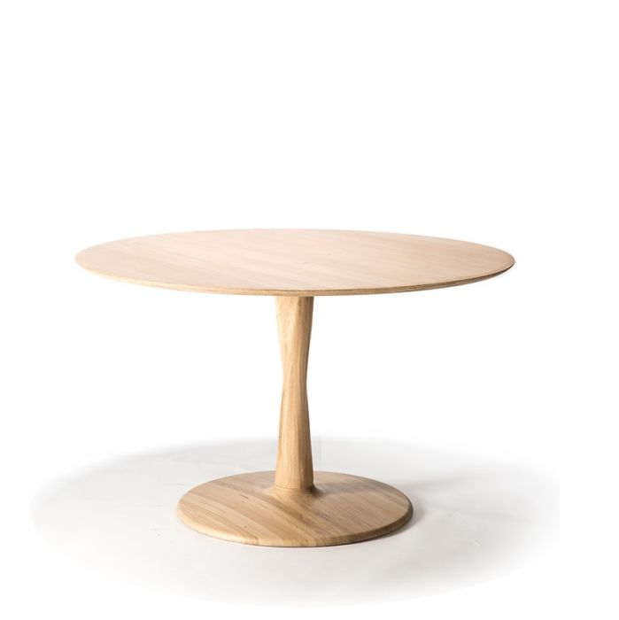 Oak Torsion Round Dining Table Dimensions Table 70 W 70cm X D 70cm X H 76cm Table 90 W 90cm X D 90cm X H 76cm Table 127 W 127cm X D 127cm X H 76cm Airy With Subtle Complexities The