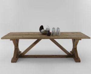 Versailles Rustic Oak dining table