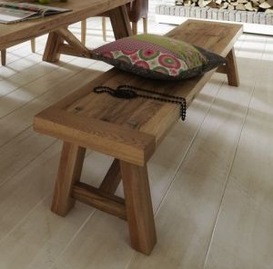 Firenze Bench Rustic Oak