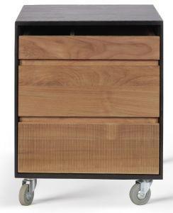 Teak Oscar Drawer Unit - 2 Drawers