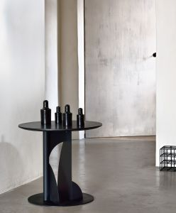 Teak Bau Black Side Table - Varnished