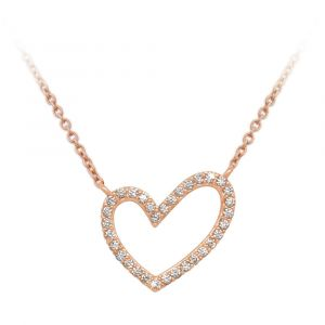 Rose Gold Heart Shape Pendant