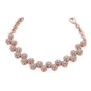 Multiple Daisy Diamante Bracelet - Rose Gold