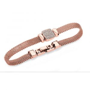 Chain Mail Square Bracelet - Rose Gold