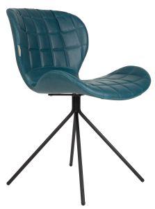OMG Leather Chair - Petrol