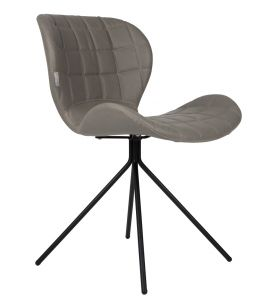 OMG Leather Look Chair - Grey
