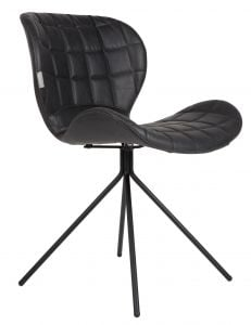OMG Leather Chair - Black