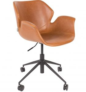 Office Chair Nikki All Brown Leather