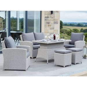 Stone Grey Caribbean 2 Seater Relaxed Dining Set