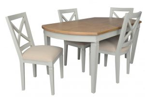 Annabelle Extendable Dining Table Wood Top