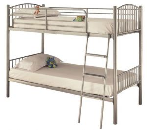 Oslo Twin Bunk Bed Silver