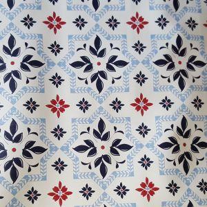 Blue Mosaic Oilcloth