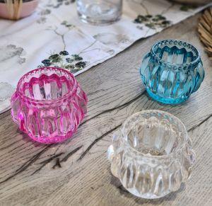 Tea-Light Holder Glass S/3