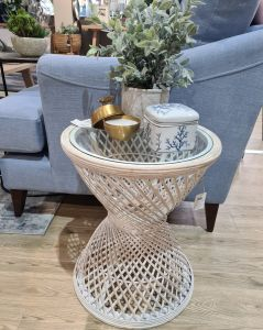 Side Table Emrys Bamboo/Glass Small