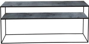 Charcoal Sofa Console - 2 Shelves