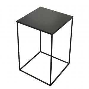 Charcoal Square Side Table-Mid/L