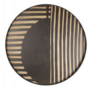 Asymmetric Dot wooden tray - round - XL