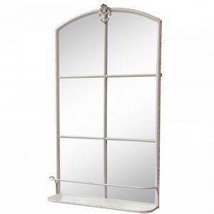 Stable mirror with shelf