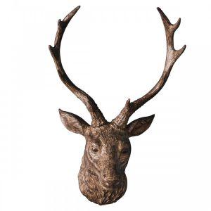 Ambrose Stag Head Bronze