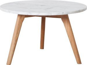 White Stone Side Table