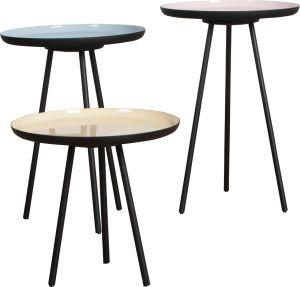 Enamel Side Table (set of 3)