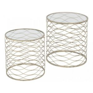 Gatsby S/2 Gold Nest of Tables