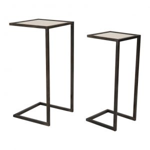 Carre Nest of Table Black S/2