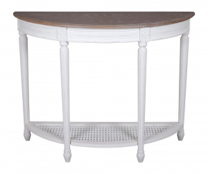 Helena White Half Moon Table