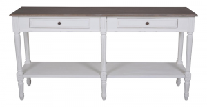Helena White Console Table