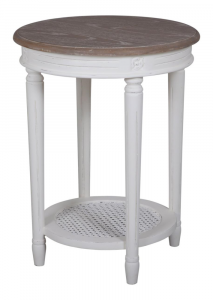 Helena White Round Side Table