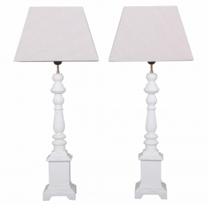 Helena White Set Of Lamps