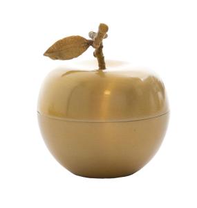 Decoration Apple Gold Candle Vanilla Scent