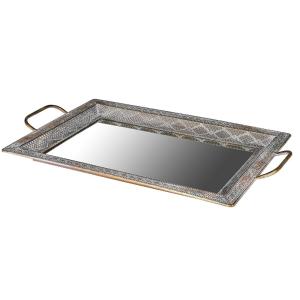 Distressed Square Mirror Tray