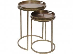 Vienna Antique Gold Atlas Side Tables S/2
