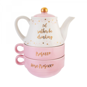Id Rather Be Drinking Prosecco Teapot