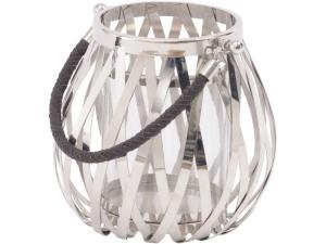Nickel Woven Lantern Medium