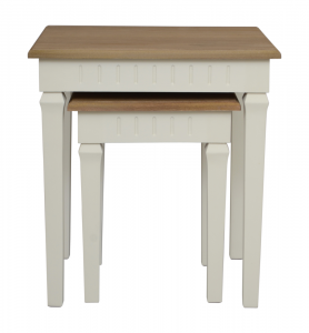 Adele Nest of 2 Tables Wood Top