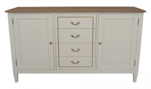 Adele 2 DR/4 DRW Sideboard Wood Top
