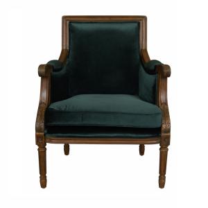 Occasional Chair Green Velvet