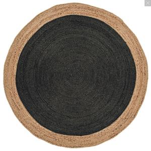 Faro Round Rug Charcoal 160
