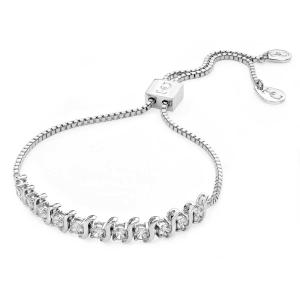 Ornate Bolo Tennis Bracelet Silver