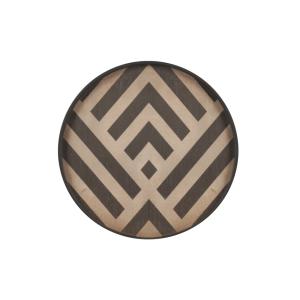 Graphite Chevron Driftwood Tray Wooden Rim Mini Large