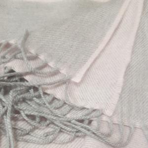 Wrap Merino Wool Light Pink/Light Grey 76x200