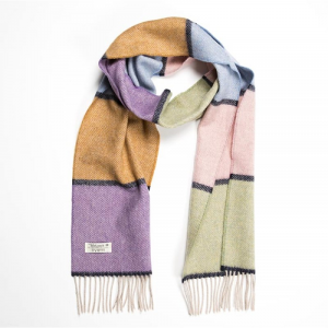 Unisex Scarf Lambswool Olive/Blue/Brown/Purple/Pink 24x200