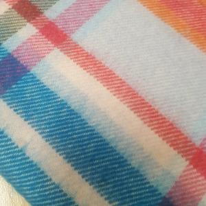 Scarf Merino Wool Blu/Red/Orange/Green 30x180