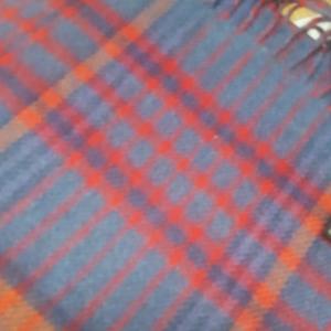 Scarf Merino Wool Blue/Yellow/Red 30x180