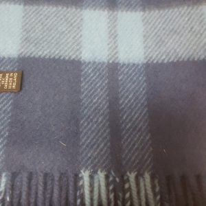 Unisex Scarf Wool/Cashmere Dark Blue/Electric Blue 24x200