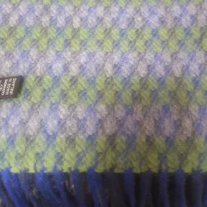 Unisex Scarf Wool/Cashmere Blue/Green/Grey 24x200