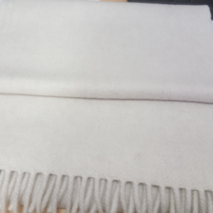 Scarf Wool/Cashmere Cream 24x200